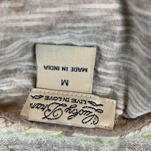 Lucky Brand Tops - Lucky Brand Top V Neck Batik Boho Shirt Smocked